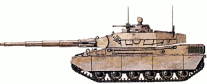 military army vehicle AMX 40