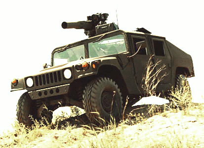 military army vehicle HMMWV M1045TOW