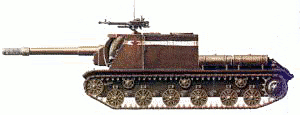 military army vehicle ISU 152