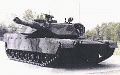 military army vehicle M1A1 MBT