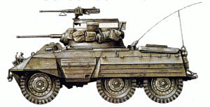 military army vehicle M8