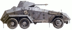 military army vehicle SdKfz 231