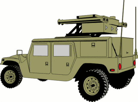 military army vehicle HMMWVAD