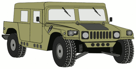 military army vehicle HMMWVD