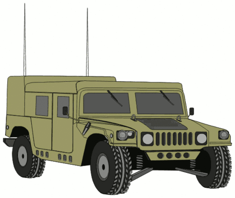 military army vehicle HMMWVE