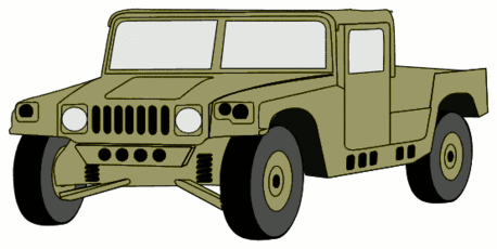 military army vehicle HMMWVS