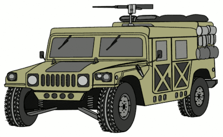 military army vehicle HMMWVY