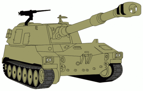 military army vehicle M109A5