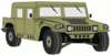 military army vehicle HMMWVD clip art