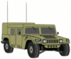 military army vehicle HMMWVE clip art