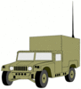 military army vehicle HMMWVX clip art