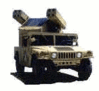 military army vehicle HMMWV Avenger clip art