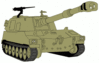 military army vehicle M109A5 clip art