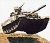 military army vehicle T90S clip art