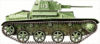 military army vehicle T 60 clip art