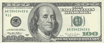 US 100Dollar front