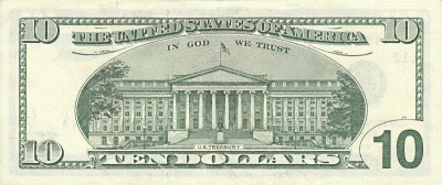 US 10Dollar back