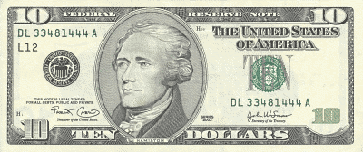 US 10Dollar front
