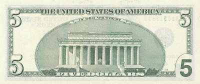 US 5Dollar back