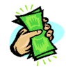 fist of cash clip art