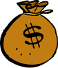 money bag brown clip art