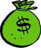 money bag green clip art