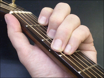 C-major chord on guitar