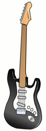 electric guitar black 2