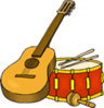 Guitar Drums clip art