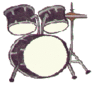 drum kit 2 clip art