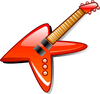 hot electric guitar clip art