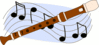 recorder and music clip art