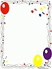 Balloons Confetti Music Party Page Border clip art