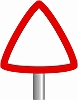 Triangle Sign Warning Page Border clip art