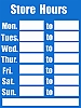 Business Hours Sign Blue clip art