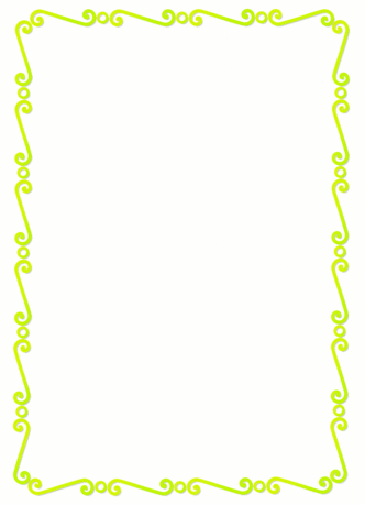 lemon lime spirals border
