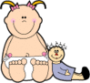 Baby baby doll clip art