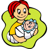 Baby happy mom baby clip art