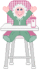 Baby highchair clip art