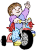 Baby todder bike clip art