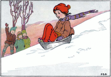 sledding in a mixing bowl