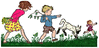 kids out in spring clip art
