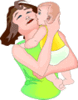 Child with Mother 3 clip art