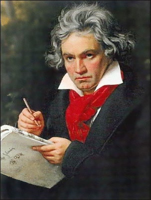 Composer Beethoven by Stieler