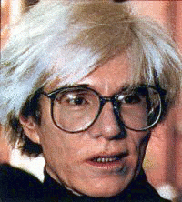 Painter Andy Warhol