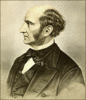 Philosopher John Stuart Mill clip art