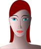shaded woman clip art