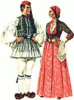 folk couple clip art