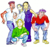 teens group friends clip art