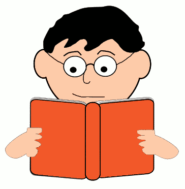 reading man with glasses